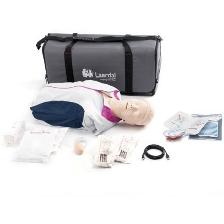 Laerdal Resusci Anne QCPR AED Torso with carrying bag