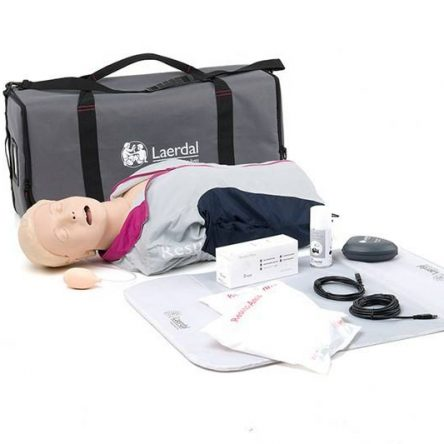 Laerdal Resusci Anne QCPR airway head with carrying bag
